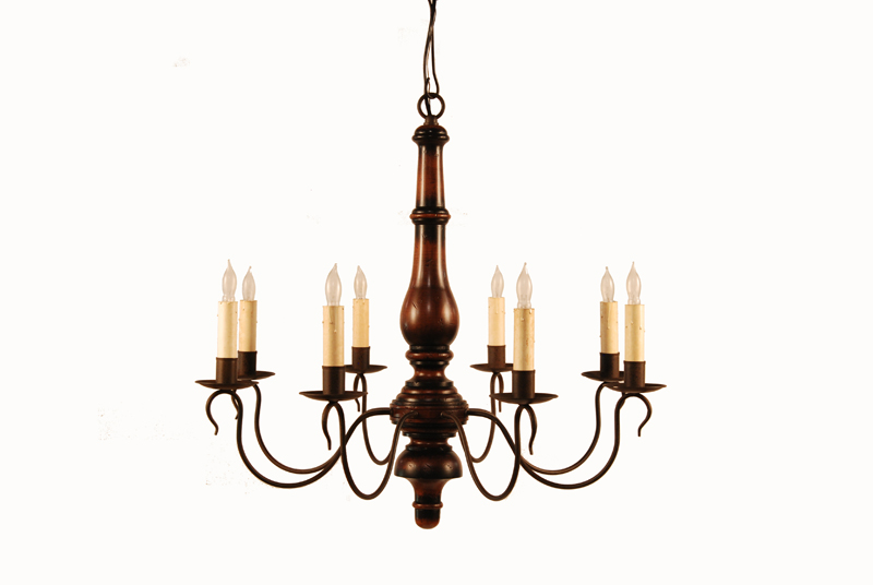 Colonial home makeover chandeliers